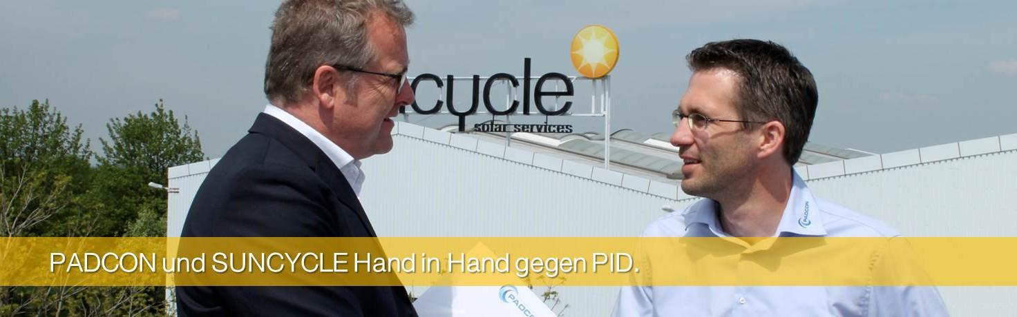 PADCON und SUNCYCLE Hand in Hand gegen PID.